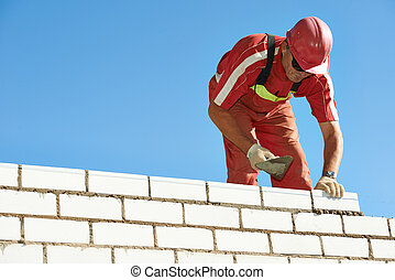 construction mason worker bricklayer - Builder construction ...