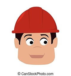 builder enginner helmet construction icon vector graphic