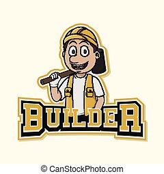 builder logo illustration design