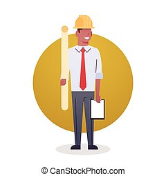 Builder Man Icon Engeneer Occupation Arcitect Flat Vector...