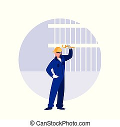 builder man with wrench avatar character