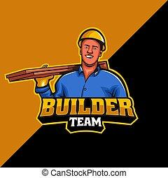 Builder team mascot logo template