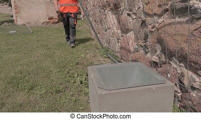 Builder throws garbage