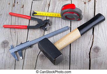 builder Tools on old wood