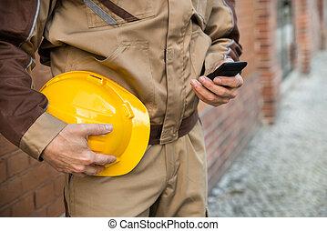 Builder Using Cellphone