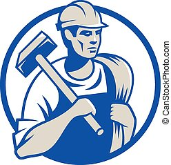 Builder - Vector illustration of a builder construction...