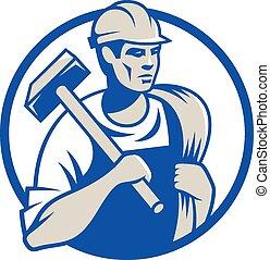 Builder - Vector illustration of a builder construction...