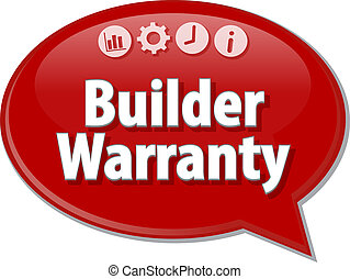 Builder Warranty  blank business diagram illustration