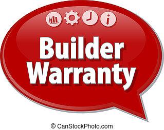 Builder Warranty  blank business diagram illustration