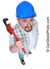 Builder with an adjustable wrench