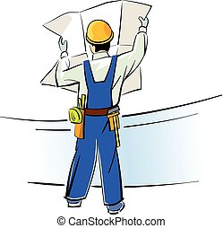 Builder with blueprints