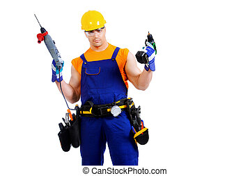builder with drill