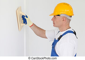 Builder with grinding tool