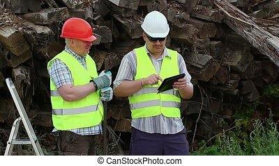 Builder with tablet PC