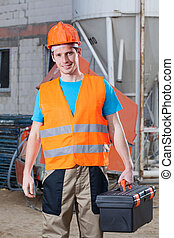 Builder with toolbox