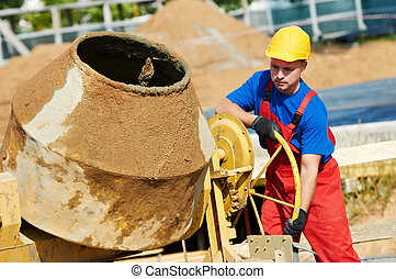 builder worker at construction site - builder laborer man ...