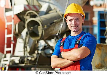 builder worker at construction site - builder worker in ...