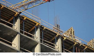 Builders build a house