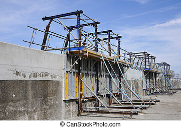 Builder's Yard which repair a concrete jetty - Builder's...