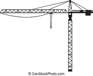 (building, 起重機, 起重機, crane), 塔