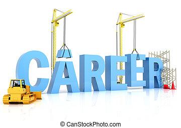 building a career career word