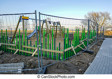 building a modern children's playground in the city
