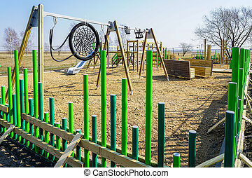 building a modern childrens playground in the city