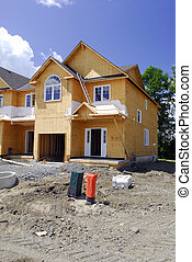 Building A New Home - New Home Under Construction With The...
