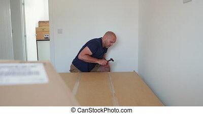 Building a Wardrobe at Home - Close up shot of a mature man...