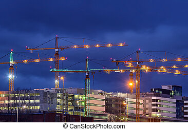 Building activity in central Stockholm