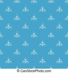 Building adhesive pattern vector seamless blue