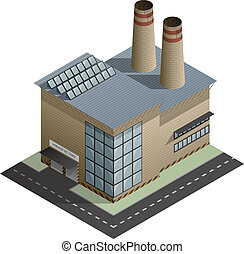 Building - An isometric artwork of an industrial manufacture...