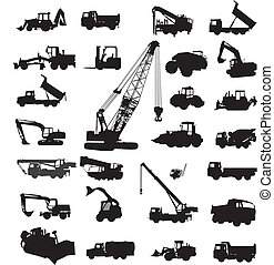 Building and constructing equipment - Large set of ...
