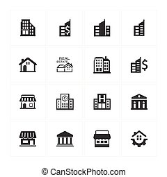 Building and Construction Icons - Gray Version