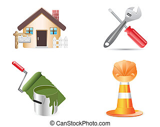 building and construction website icons