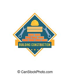Building and house construction tools vector icon