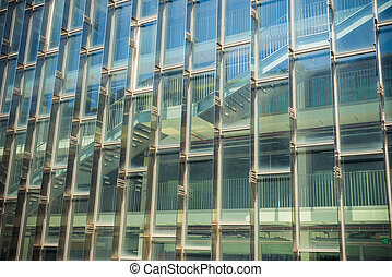 Building and reflect building on glass wall 2