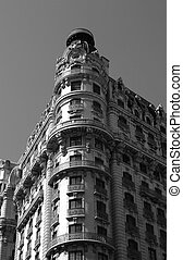 Building - Ansonia building, NYC. B&W