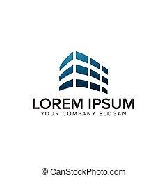 Building architectural logo design concept template.