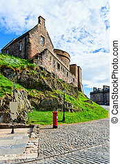 Building architecture of Edinburgh Castle in Scotland