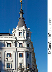 Building at Alcala street in City of Madrid