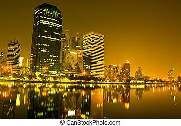 Building at night in Bangkok