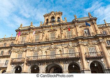 Building at the Plaza Mayor in Salamanca