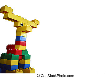 Building Blocks 2d - Child\\\'s Creation, Moose in White...