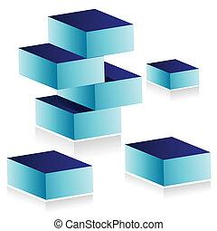 building blocks illustration design isolated over white