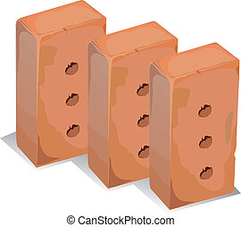 Building blocks - Three building blocks isolated over a...