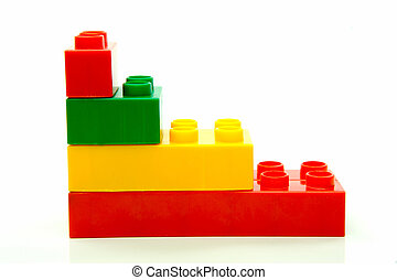 Building Blocks - Toy building blocks isolated against a ...
