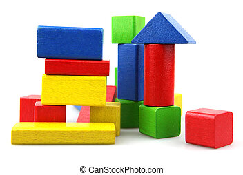 Building blocks - Wooden building blocks