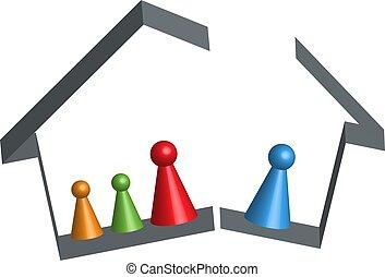 Building broken family home in 3D