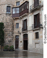 Building built against the roman gate of Barcelona. - View ...
